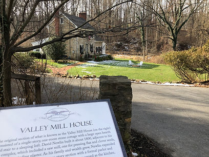 Photograph of the Valley Mill House on an early spring day.