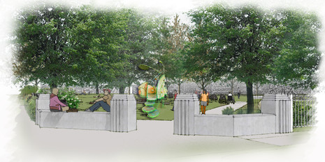 Rendering of Simpson Park Playground Entrance