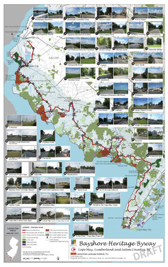 Bayshore Heritage Byway Character Areas Map