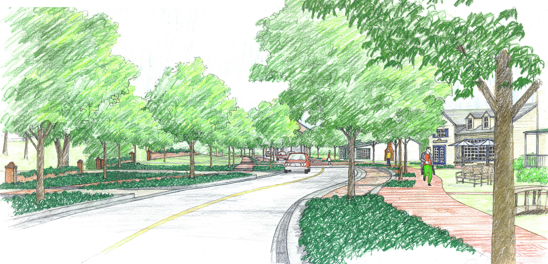 Streetscape improvements sketch