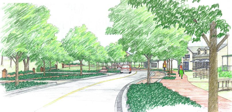 Streetscape improvements sketch