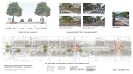 Middleburg Public Meeting Display showing streetscape concepts.