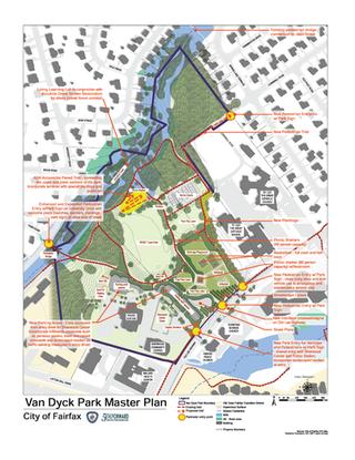 Van Dyck Park Master Plan drawing