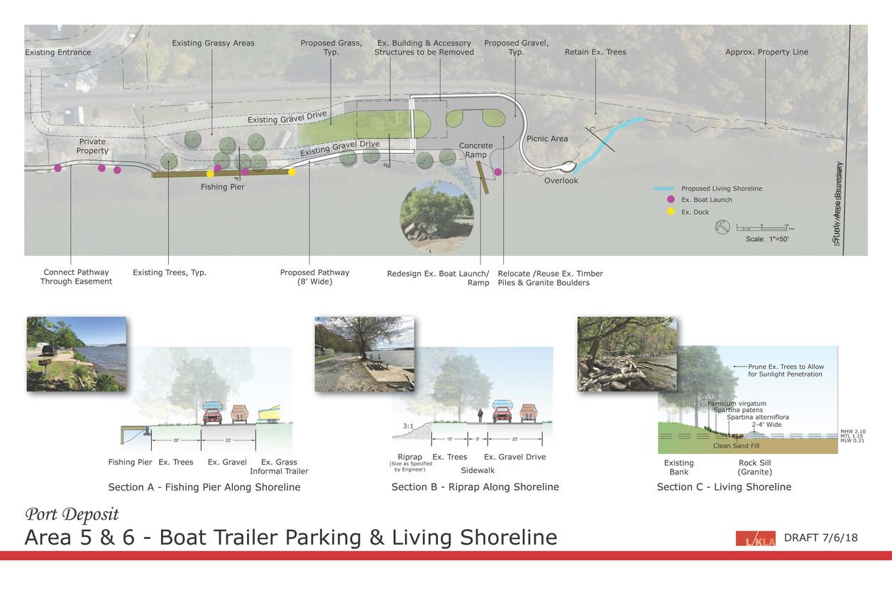 Boat Trailer Parking and Living Shoreline