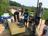 The boardwalk supports opportunities for ecology education.