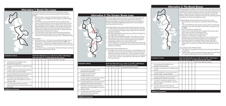 Trail Alternatives Handout
