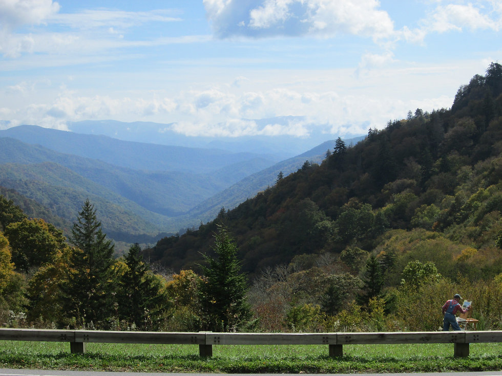 Photograph of the Great Smoky Mountains, Tennessee.