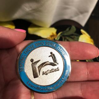 AgileDad Challenge Coin Front