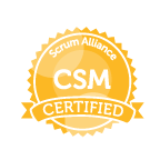 Scrum Alliance CSM Ribbon Yellow