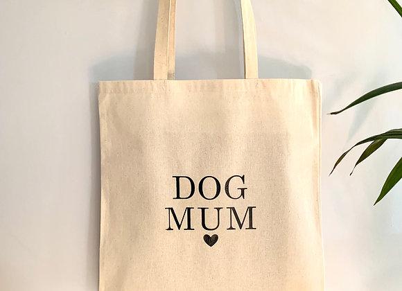 """Custom """"Dog Mum"""" Shopping Tote Bag"""