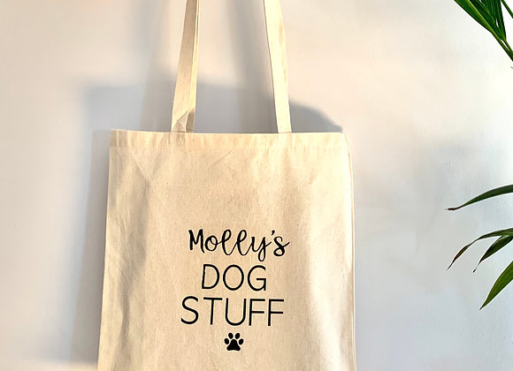 Personalised Dog Tote Shopping Bag