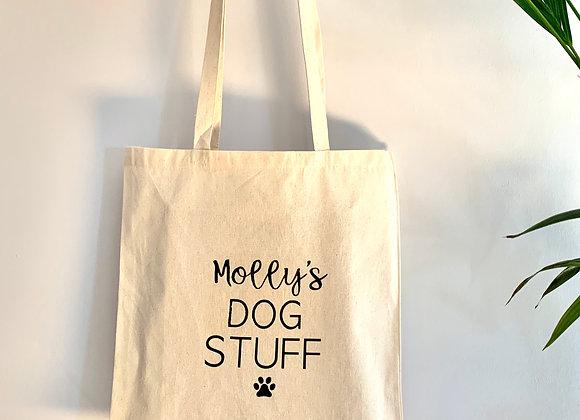 Personalised Dog Tote Shopping Bag