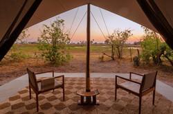 Camp Maru tent view Okavango Delta