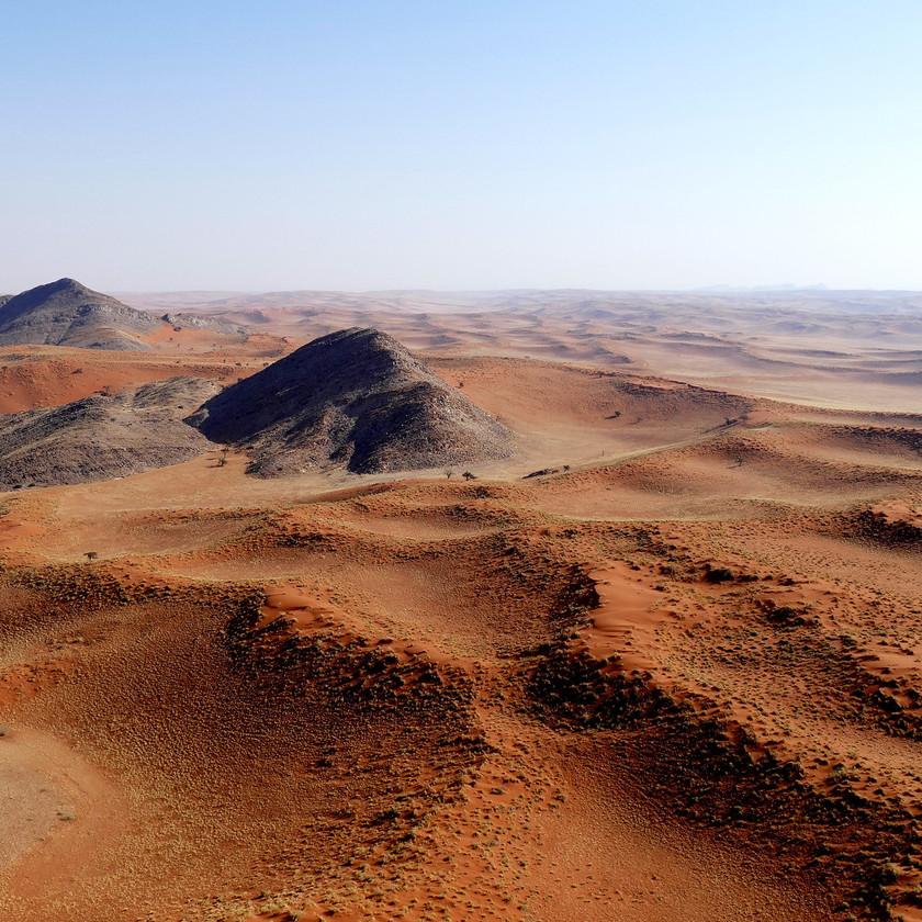 Aerial scene - Namibia safari