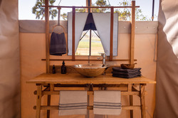 Camp Maru bathroom Okavango Delta