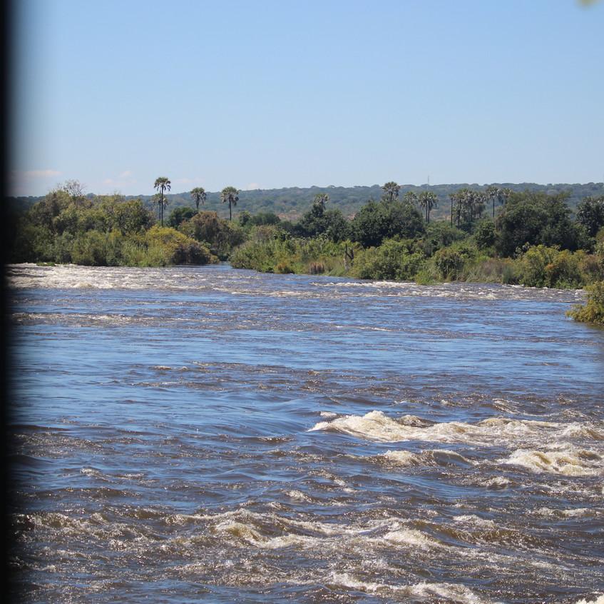 Zambezi about to Falls