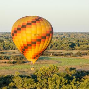 Ballooning over the Okavango Delta
