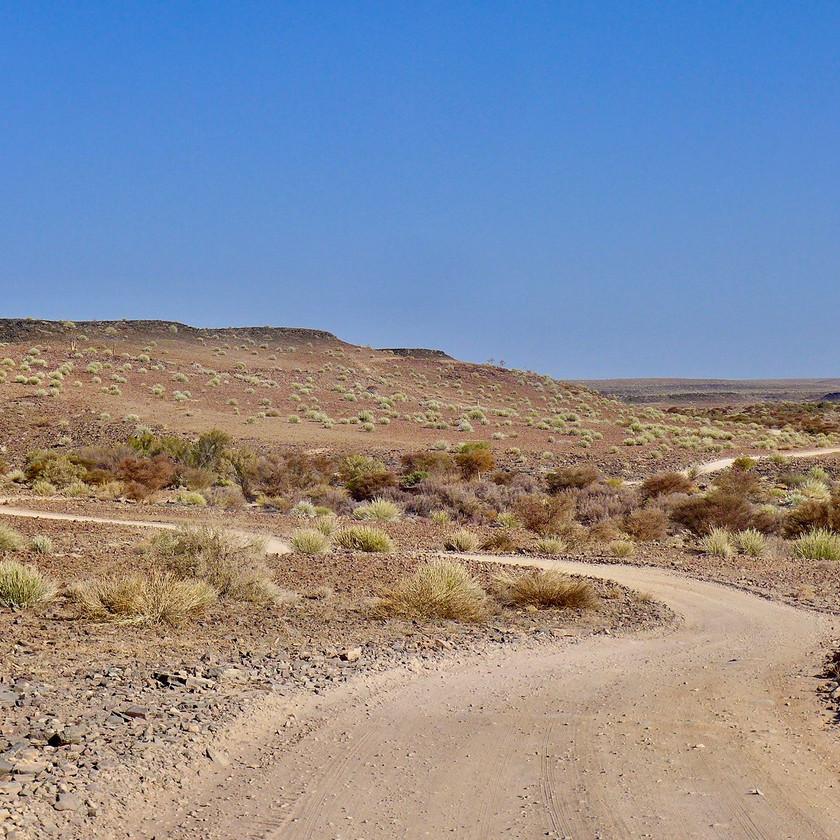 Desert road Namibia safari
