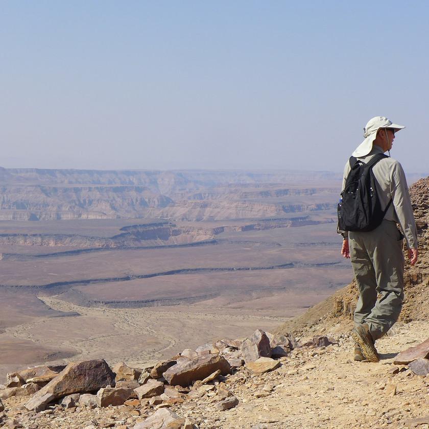 Canyon hike - Namibia safari
