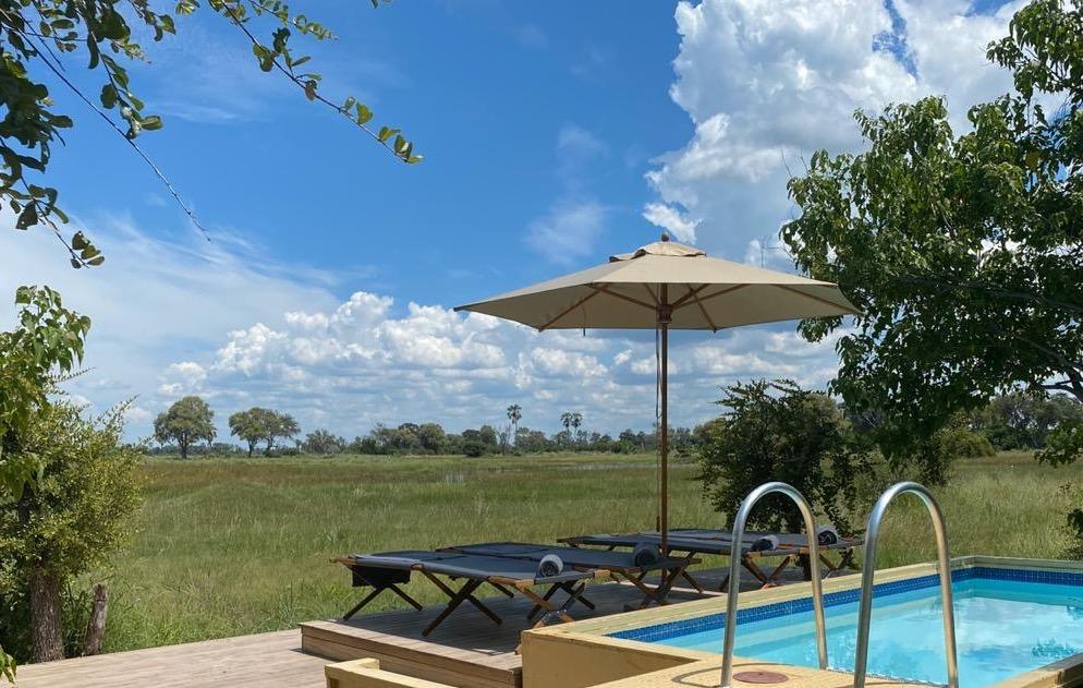 Camp Maru pool Okavango Delta