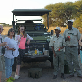 New friends from Warszawa, Poland - Botswana Safari