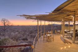 Jabali Ridge Dining room overlooking the baobab forest