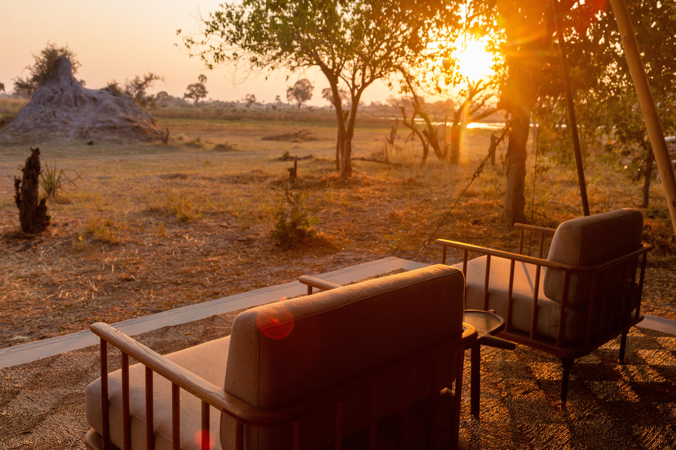 Camp Maru deck Okavango Delta