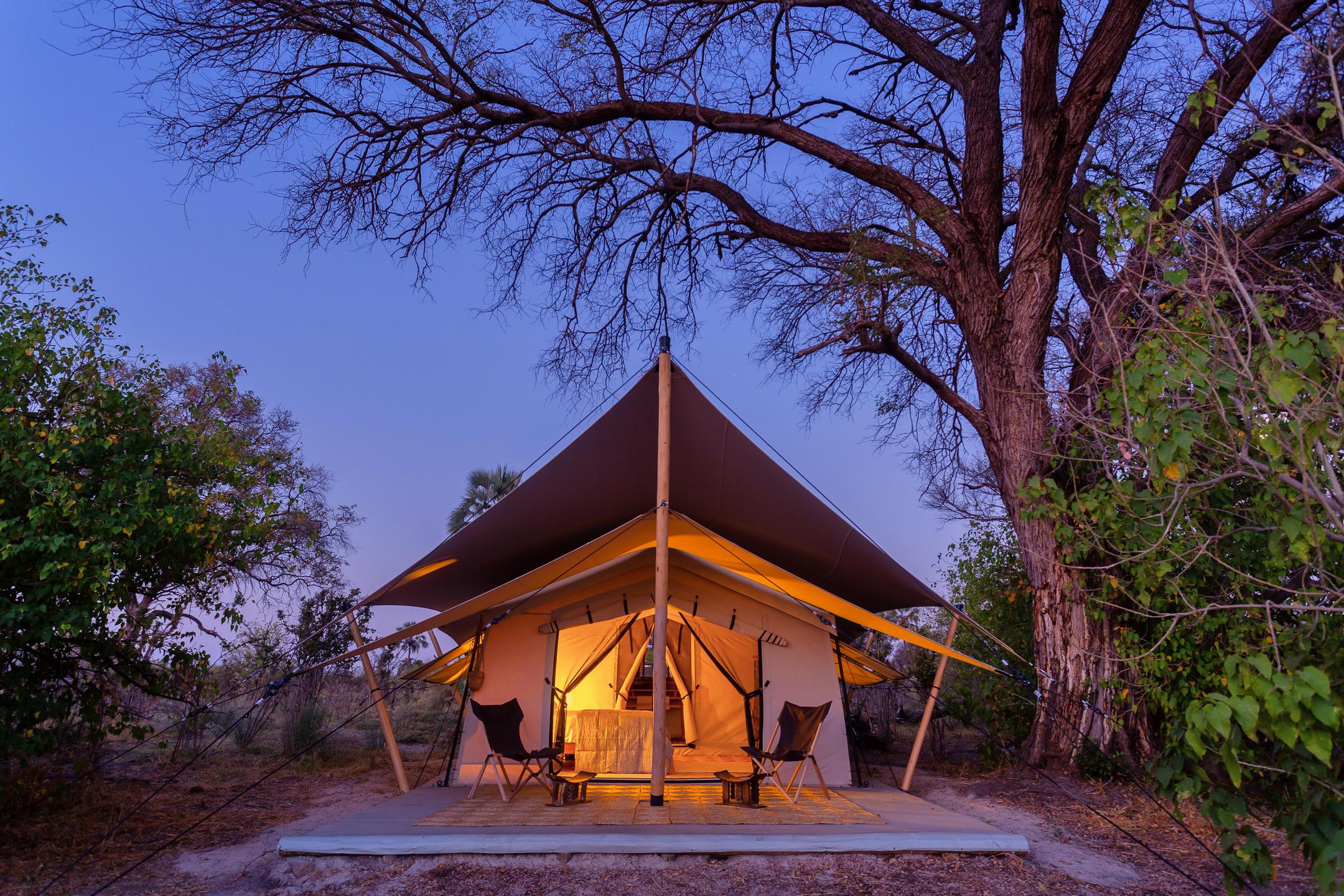 Camp Maru tent Okavango Delta