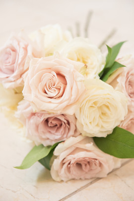 All Rose Bouquet - Blush and White - Bridal Bouquet
