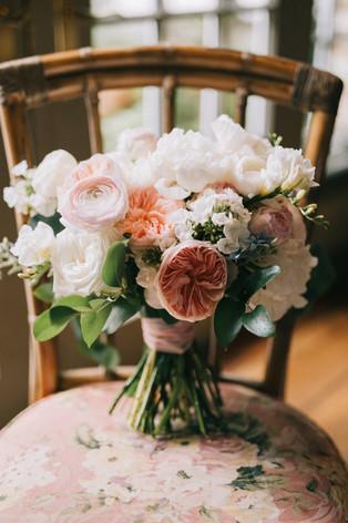 August Wedding Bouquet - Luxury Blooms - Garden Roses - OKC