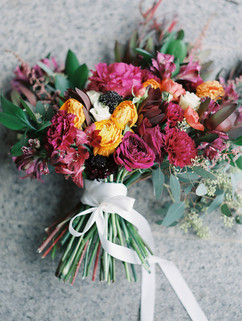 Magenta Bouquet - Day After WEdding - Ranunculus