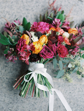 Magenta Bouquet - Day After WEdding - Ranunculus
