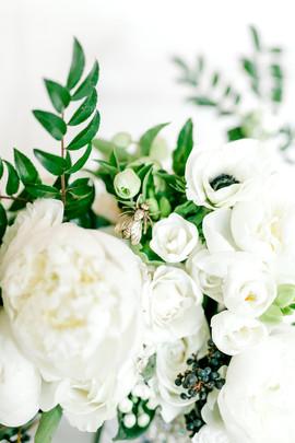 Winter White Bouquet - Bouquet Charms - Berries in Bouquet - OKC