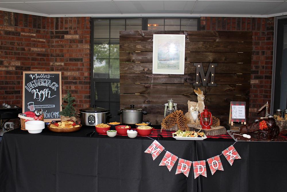 Lumberjack Party Food Spread