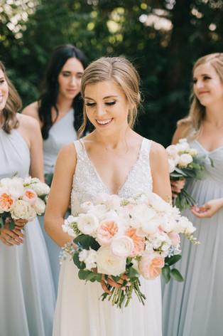 Nichols Hills - Summer Wedding - Luxe Bouquet - Garden Roses - Chantilly Couture