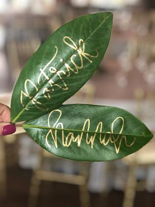 Southwind Hills - Magnolia Leaves - Calligraphed - OKC