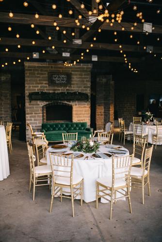Patio-Reception-Fireplace-Vintage-Furniture