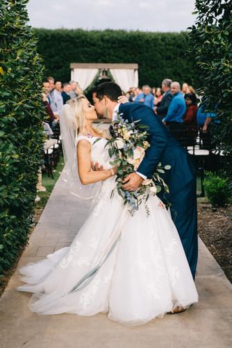 Boxwood-Garden-Wedding-Kiss