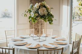 Coles Garden - Fall Wedding - Tall Centerpiece - Gold Stand - OKC