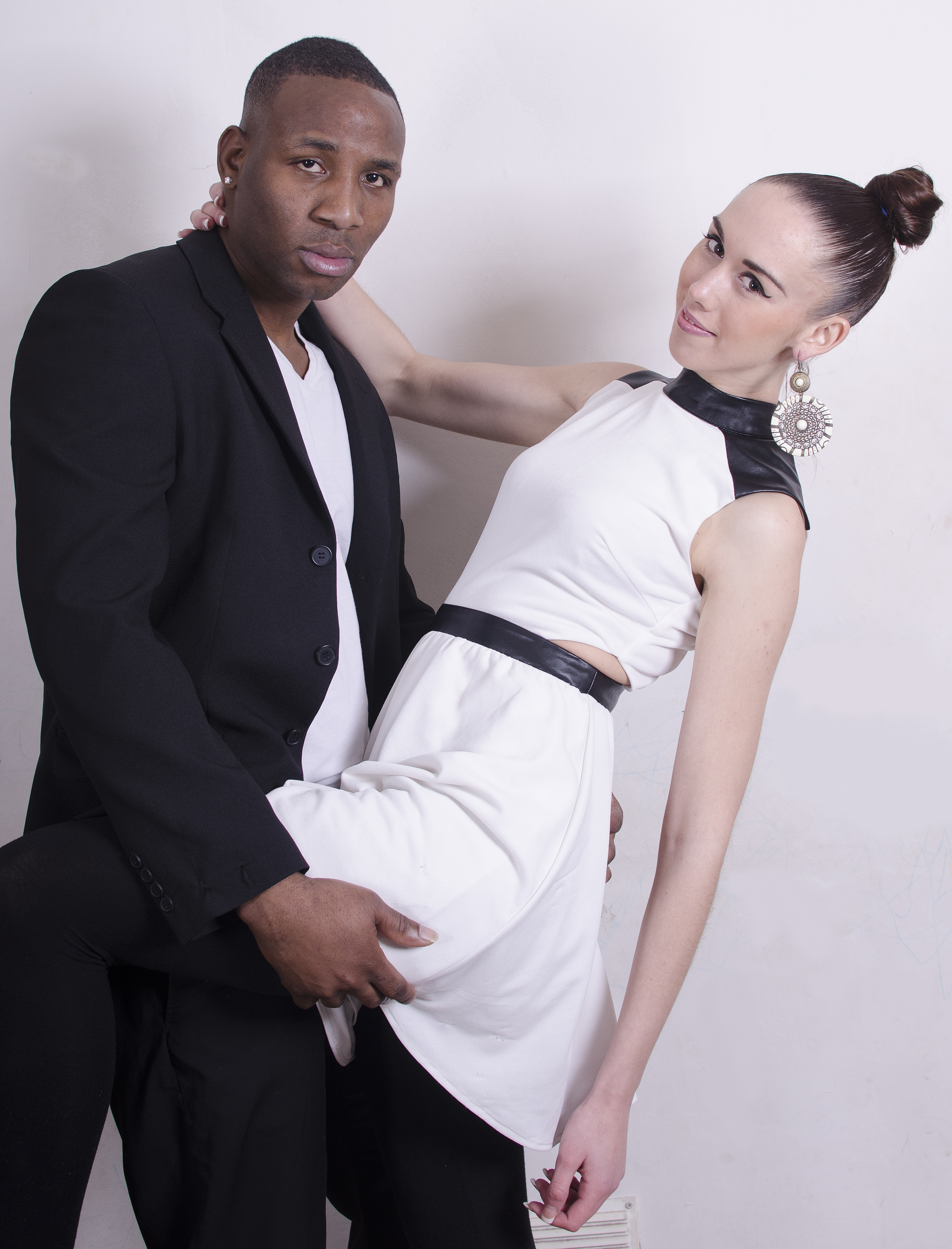 Vinroy Campbell and model partner