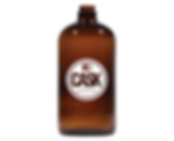 32 oz. Boston Round Amber Growler