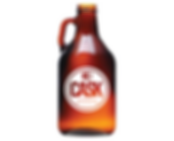Libbey 70217 64 oz. Amber Growler 1/2 Gallon