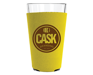 16 oz. Pint Glass Sleeve with Bottom