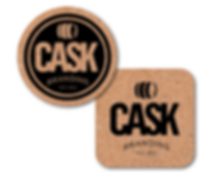 "4"" Round or Square Cork Brewery Coasters"