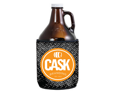 64 oz. Full Color Die Sublimation Neoprene Growler Sleeve