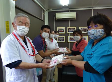 マスク、除菌シートの寄贈