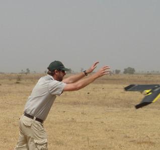 Launching UAV