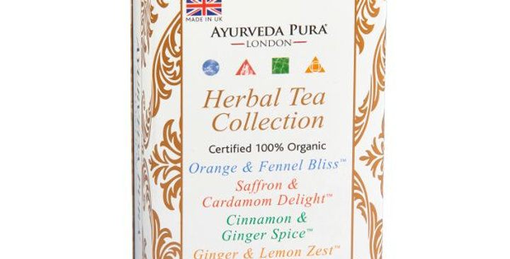 Ayurveda Pura Herbal Tea Collection - yrttiteelajitelma