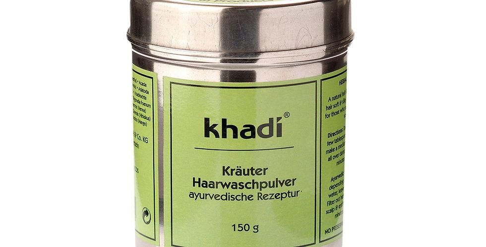 Khadi Herbal hairwash jauhe allergiselle, paksuille ja kiharoille hiuksille 150g