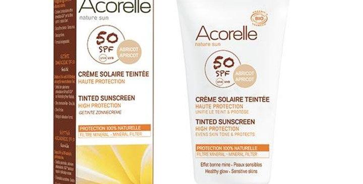 Acorelle Tinted Sunscreen Apricot Sävyttävä aurinkoivoide sk50